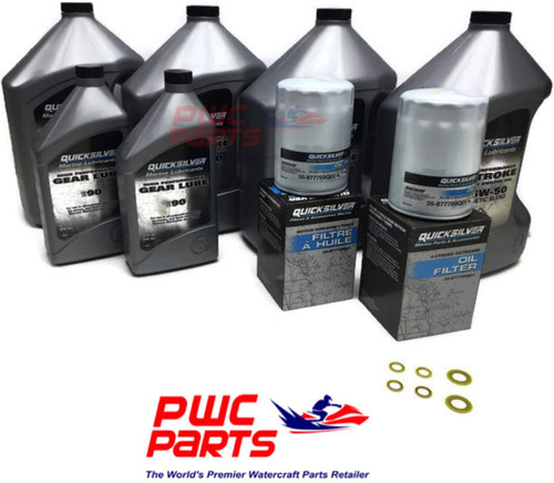 Mercury VERADO 25W40 Quick Silver Two Thorn Oil Change Kit w / High Performance Bottom Unit for Gear Lube and L6 200/225/250/275/300/350 / 400HP 400R Outboard Models