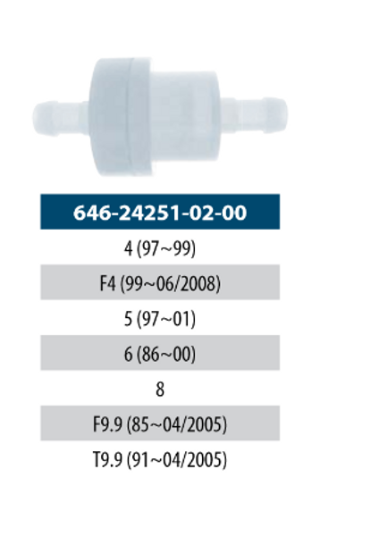 Yamaha OEM Remote Oil Tank Filter 646-24251-02-00