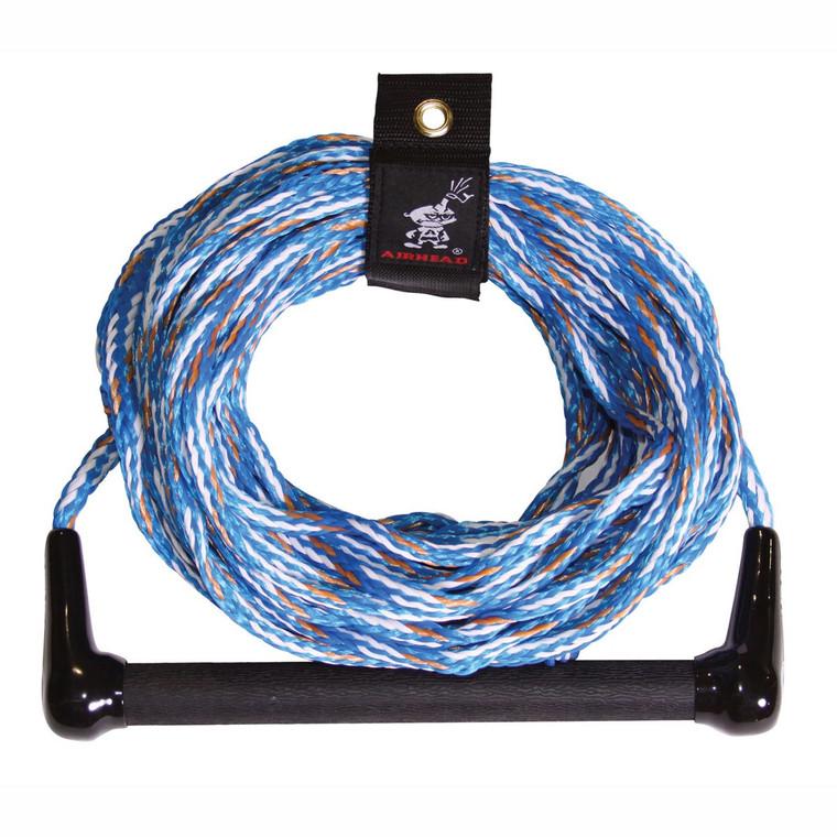 AIRHEAD Water Ski Rope 1 Section 75' AHSR-5 Blue w/ Handle 16 Strand Rope