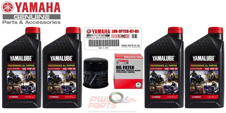 YAMAHA Sport Motorcycle AP Oil Change Kit YZF-R6S R6 FZ1 FZ6 10W40 SAE LUB-SPTCG-KT-05