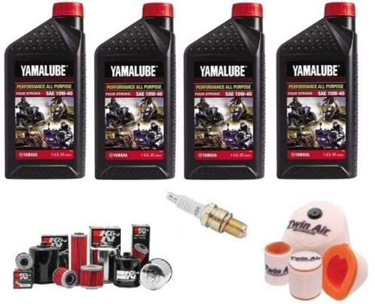 Yamalube YAMAHA WOLVERINE 350 4X4 1995-2005 OIL FILTER, OIL, AIR FILTER, SPARK PLUG KIT