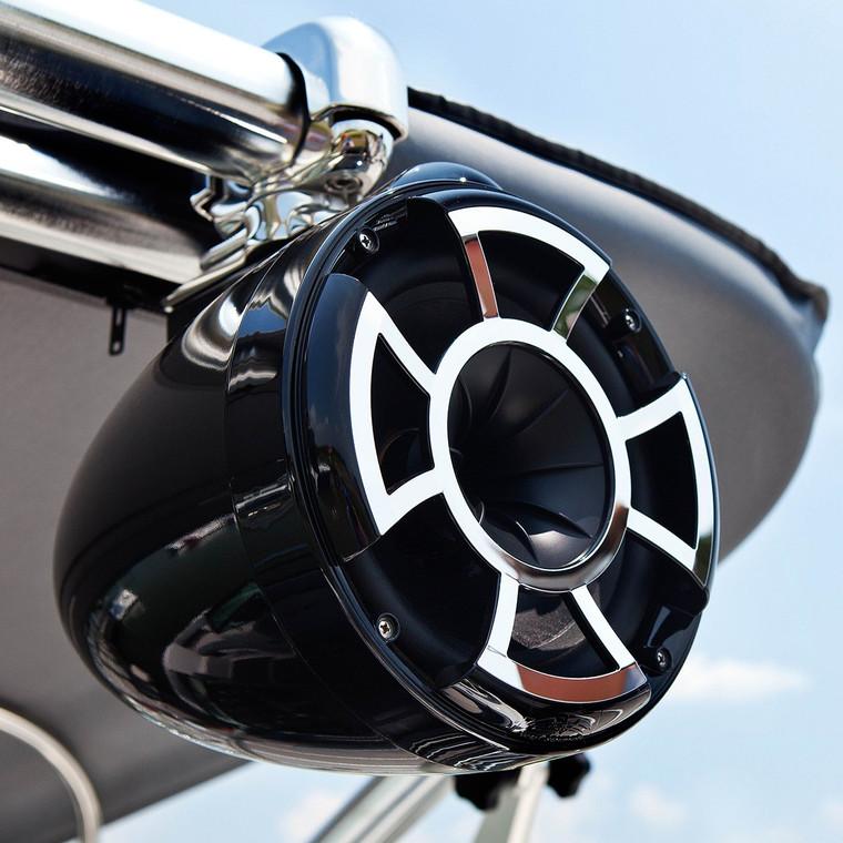 "Revolution 8"" Black Tower Speaker By Wet Sounds Yamaha Boats SBT-REV8B-LK-11"