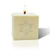 "3"" Pure Aromatherapy Palm Wax Candle - Star of David"