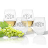 Stemless Wine Tumbler (Set of 4) (Tritan Unbreakable)-PERSONALIZED