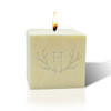 """3"""" Pure Aromatherapy Palm Wax Candle - Antler with Single Initial"""