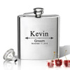 Stainless Steel Hip Flask (8 oz) Personalized to your desire.  Wedding Party