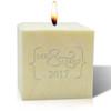 """4"""" Pure Aromatherapy Palm Wax Candle - Mr & Mrs 2017"""