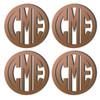 Bronze Mirrored Acrylic Coaster, Set of 4