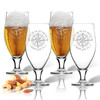 GPS COORDINATES, CERVOISE GLASSES 16 oz(SET OF 4)