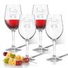 Cat Icon Tritan Wine Stems 12 oz (Set of 4) (Tritan Unbreakable)