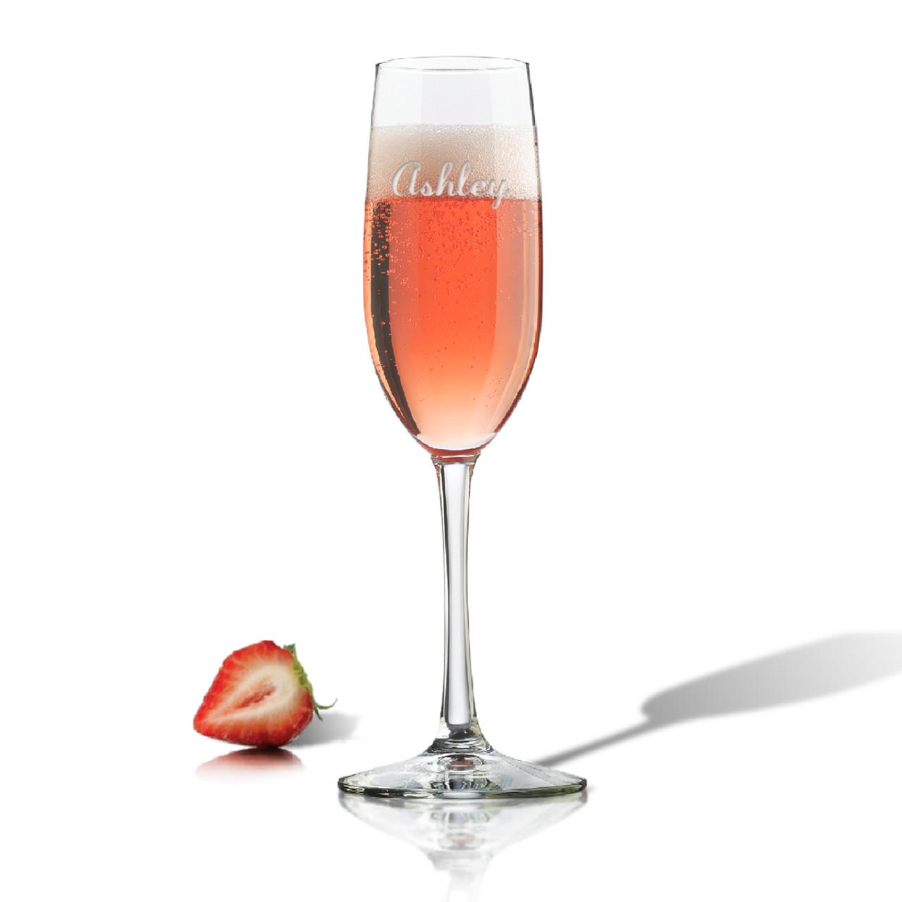 Personalized Champagne Flute Single Glass
