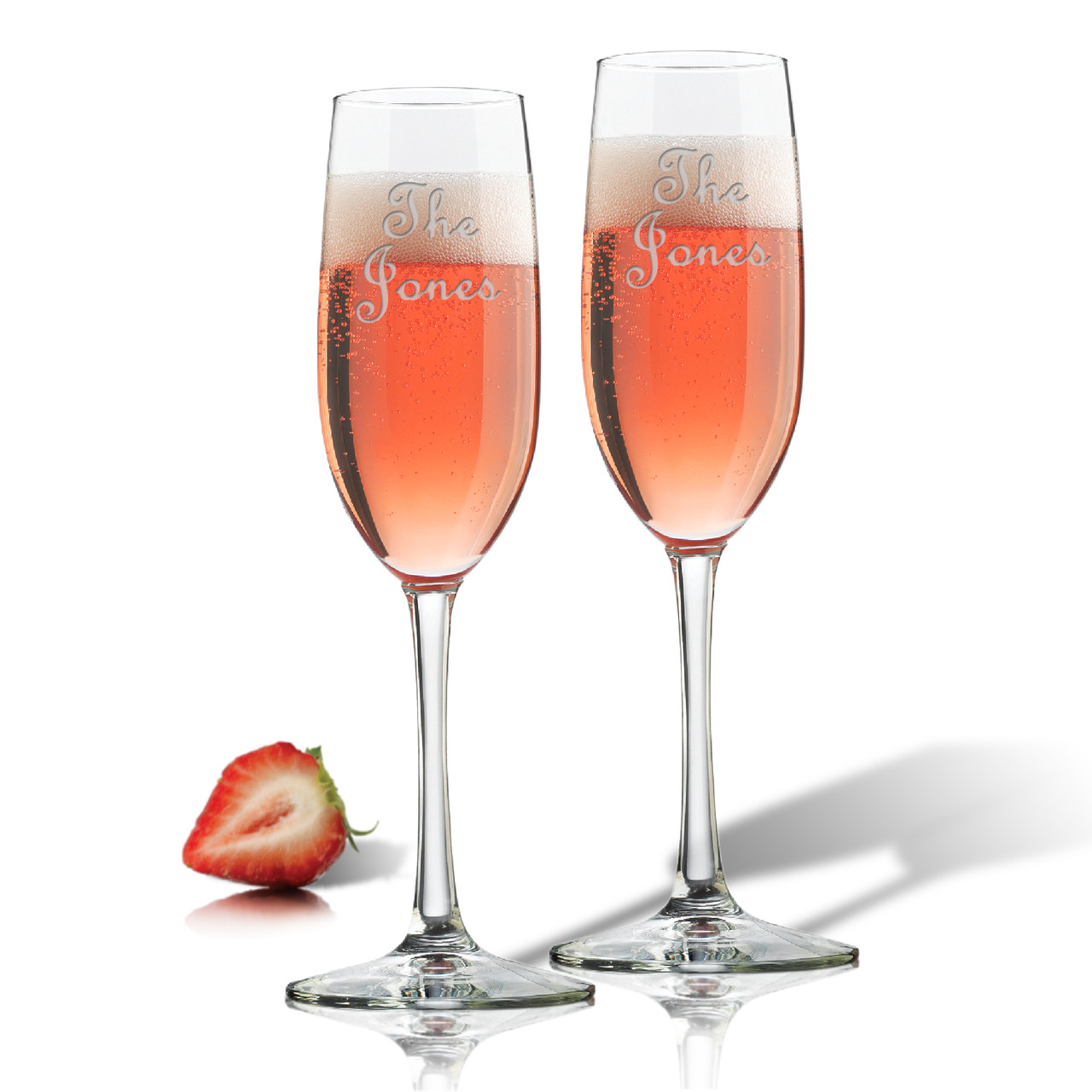 Personalized Champagne Flute Set Of 2 Glass Personalized