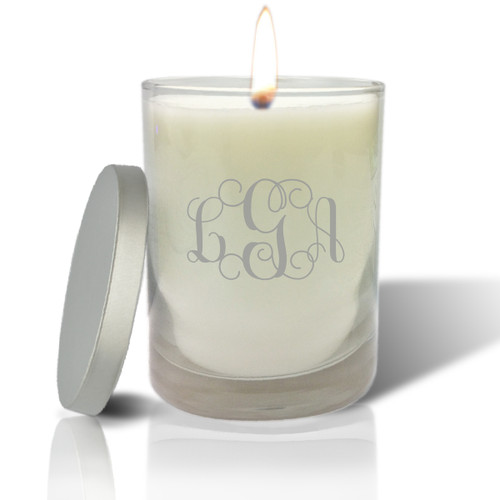 Soy Glass Candle - Monogram
