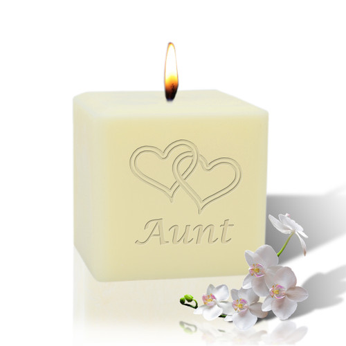 """3"""" Soy Pillar Candle - Hearts for Aunt"""