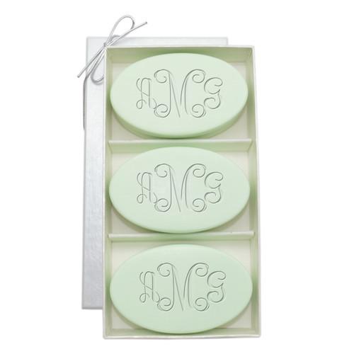 Signature Spa Trio - Green Tea & Bergamot: Vine Monogram