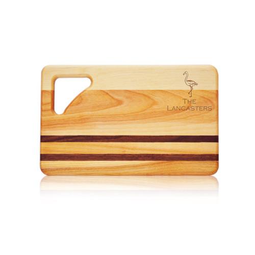 "Small Integrity Cutting Board 10"" X 6"" - Personalized Flamingo #2"
