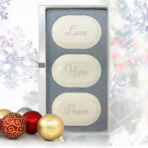 Ashley Jones Eco Luxury Trio Love, Hope, Peace