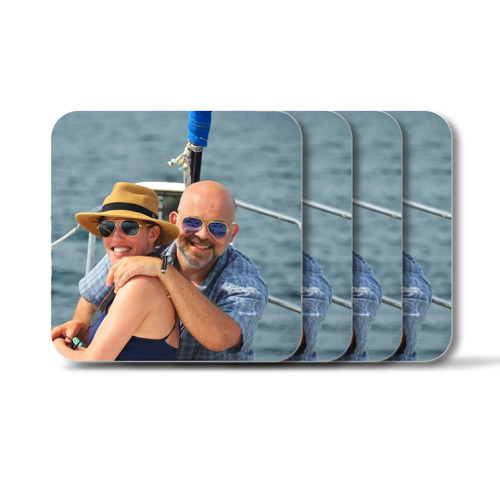 Personalized Square Coasters, Set of 4 - Photo