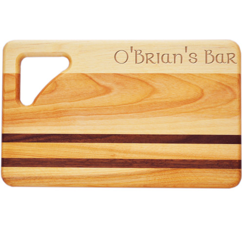 """Small Integrity Cutting Board 10"""" X 6"""" - Celtic Name"""