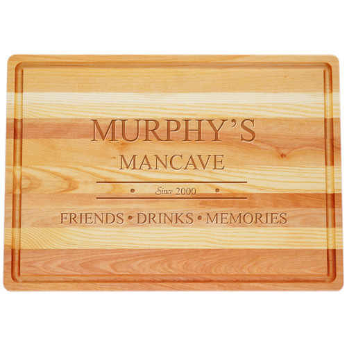 """Large Master Cutting Board 20"""" X 14.5"""" - Personalized Mancave"""