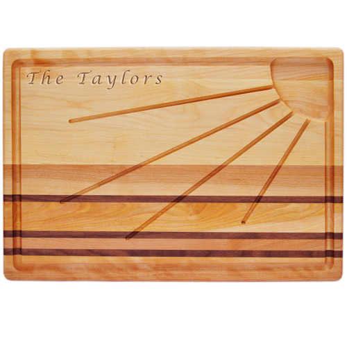 """Integrity Sunburst Carving Board 20"""" X 13"""" - Personalized"""
