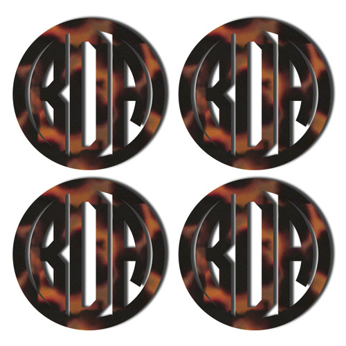 Tortoise Acrylic Coaster, Set of 4
