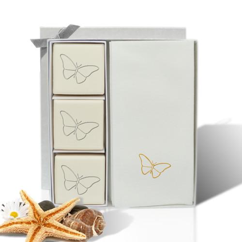 Eco-Luxury Courtesy Gift Set - Gold Dragonfly
