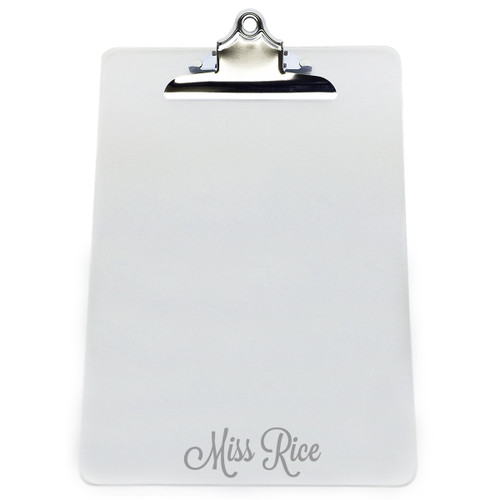 "Personalized Acrylic 10"" x 14"" Clipboard"