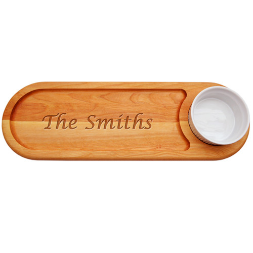 """EVERYDAY BOARD: 21""""x 7"""" DIP & SERVE PERSONALIZED -PERSONALIZED"""