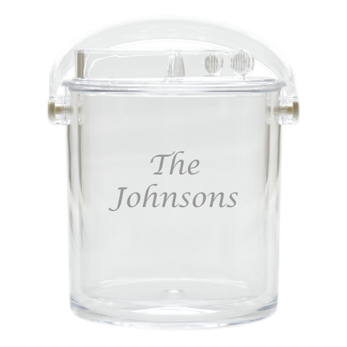 Personalized Insulated Ice Bucket with Tongs -PERSONALIZED