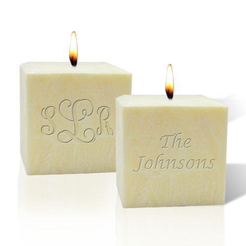 "3"" Palm Wax Candle - Personalized"