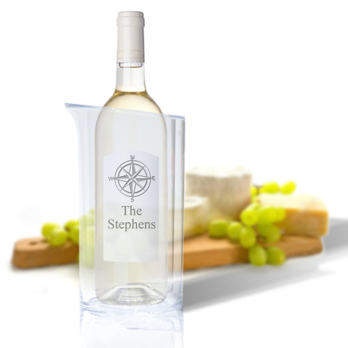 Personalized Iceless Wine Bottle Cooler (Icon Picker)(Beach / Nautical)