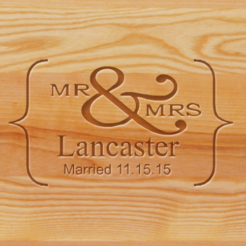 Cutting Board - Personalized (MR&MRS NAME)