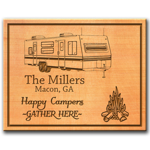 Personalized Western Red Cedar Sign (Campground  Design Options)