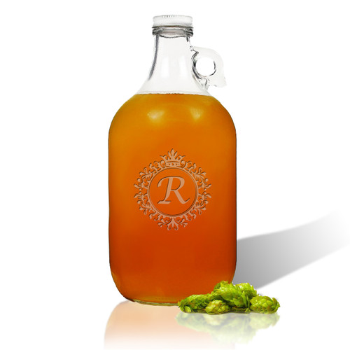 ICON PICKER PERSONALIZED, GROWLER 64oz (Initial/Monogram Prime Design)