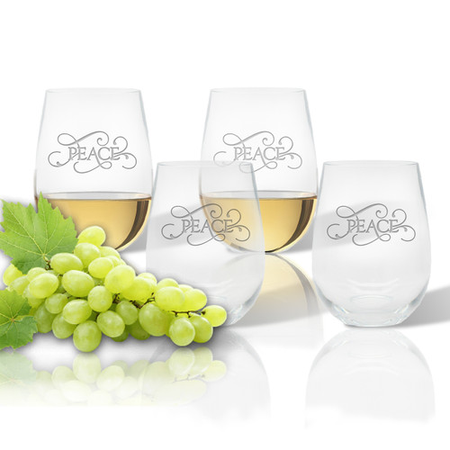 ICON PICKER Stemless Wine Tumbler (Set of 4)(Common Sayings)