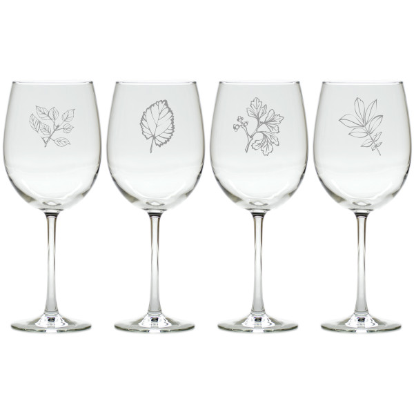 LEAVES WINE STEMWARE - SET OF 4 (GLASS)