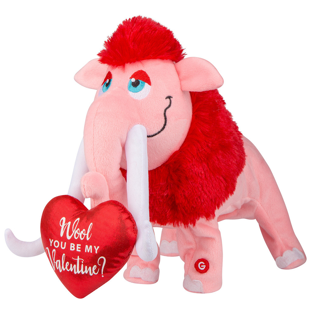 Darling Dancing Valentine Woolly Mammoth