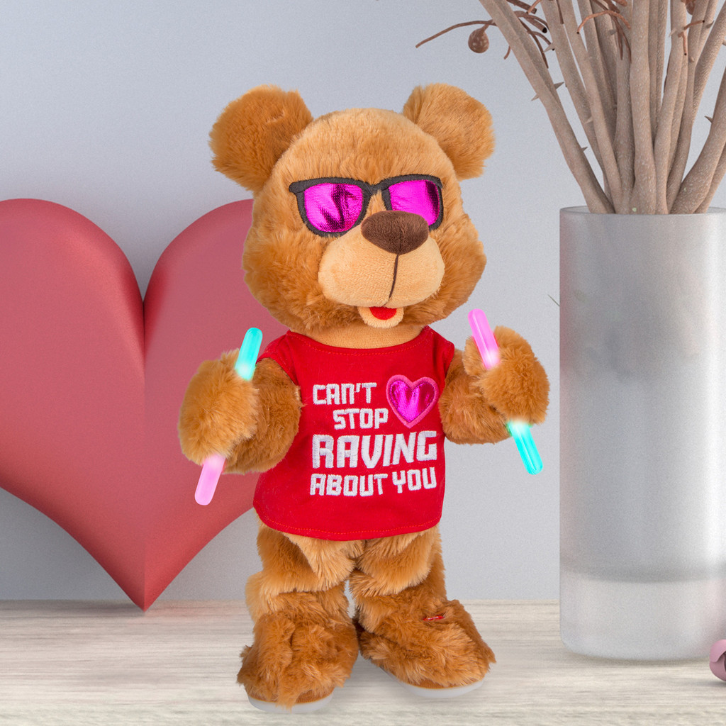 Hands In The Air Valentine EDM Bear