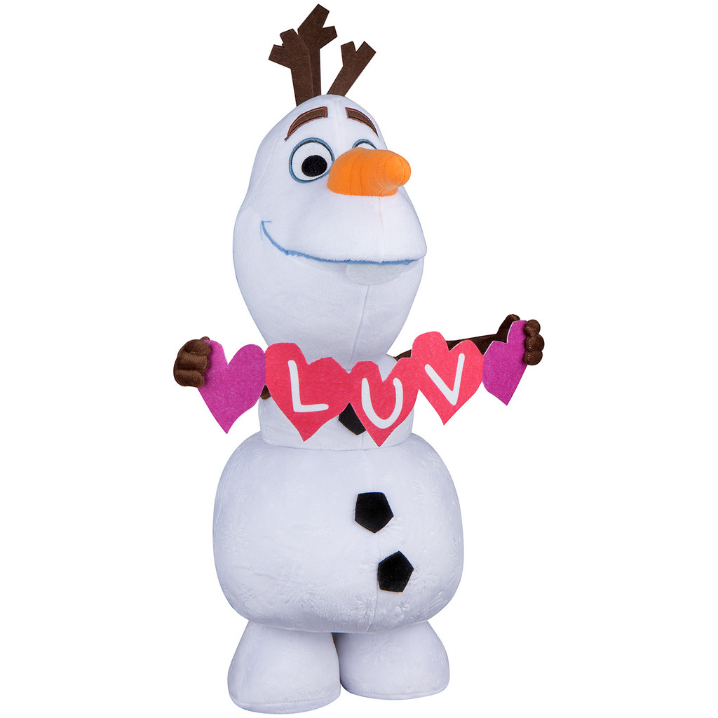 Olaf with Heart Garland
