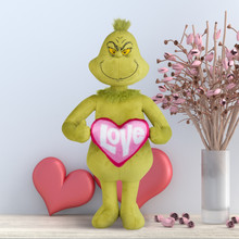 Grinch with Heart Pillow