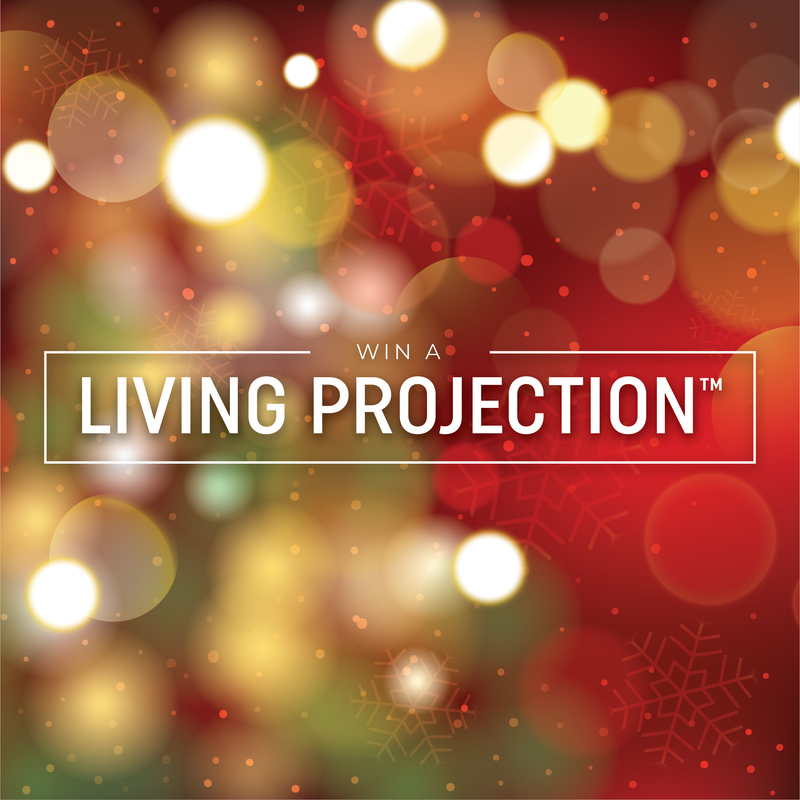 Win Gemmy's Latest Innovation for the Holiday's - Living Projection™ Snow Globe