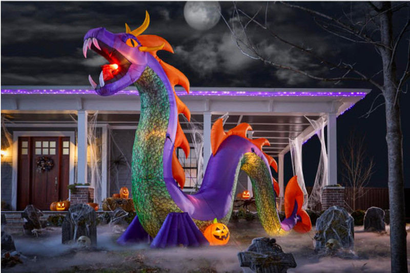 Featured on Delish: Gemmy's Terrifying Serpent Is 18 Feet Long