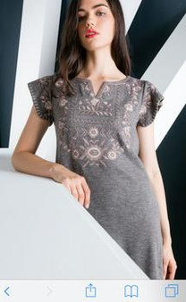 Women's Embroidered Shift Dress.