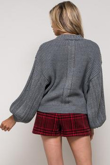 Women's Knitted Crew Neck Long Sleeve Fall Winter Pullover Sweater