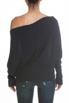 Women's Off Shoulder Sweater Long Sleeve Loose Pullover Sweater Top