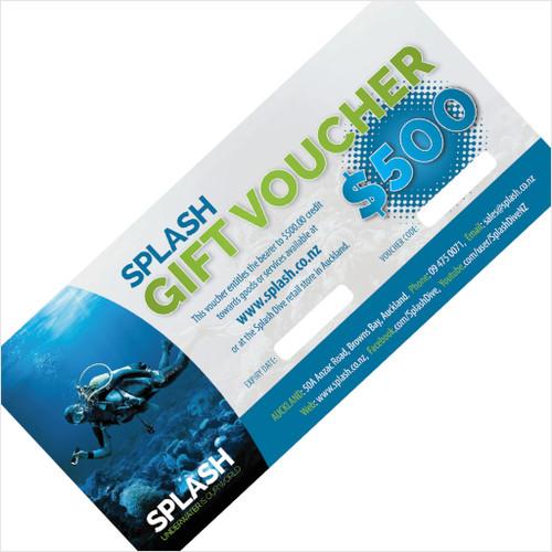 $500 SPLASH DIVE GIFT VOUCHER