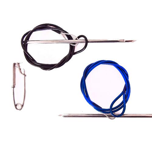 Stringer plastic coated & swivel clip