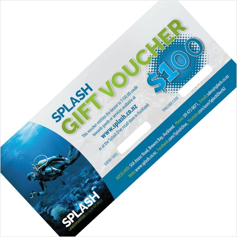 $100 SPLASH DIVE GIFT VOUCHER