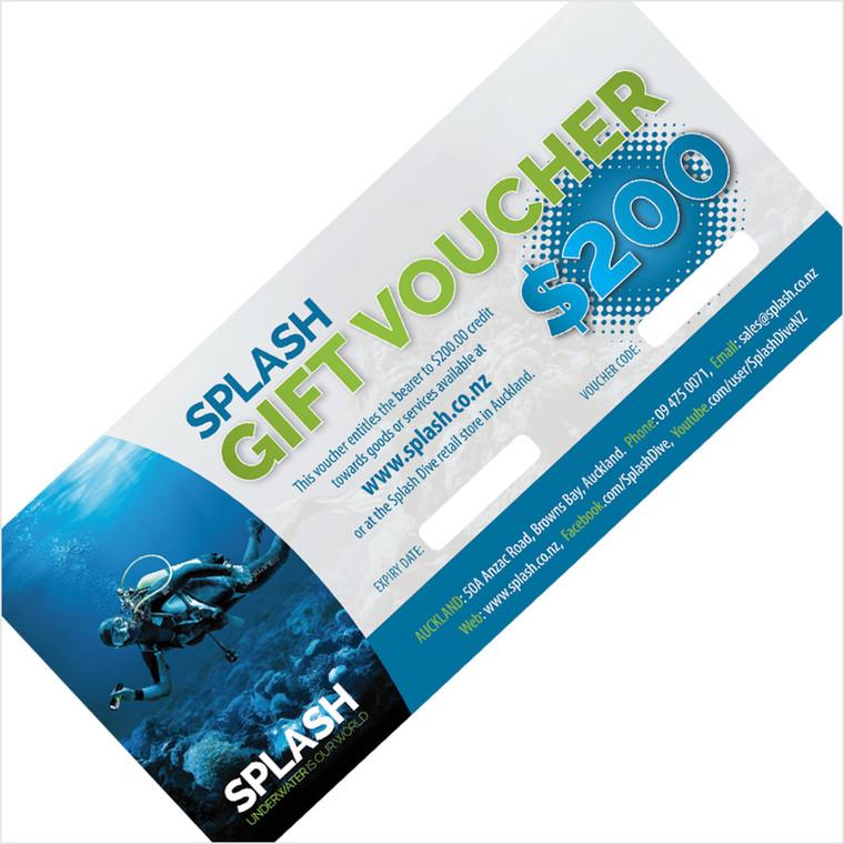 $200 SPLASH DIVE GIFT VOUCHER
